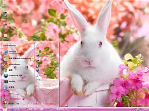 可爱彼得兔电脑主题