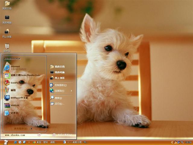 可爱的宠物狗桌面主题