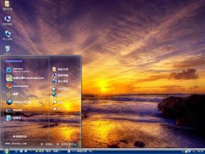 夕阳景观电脑主题