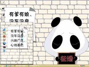 熊猫娃娃征婚电脑主题