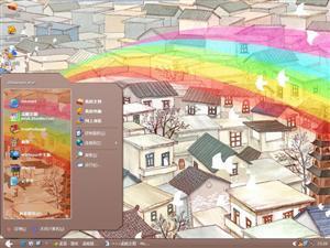 彩虹小镇电脑主题