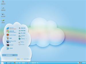 彩虹云朵电脑主题