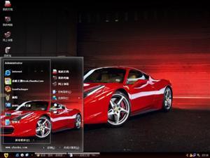法拉利458跑车电脑主题