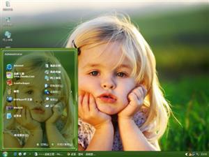 可爱小女孩电脑主题