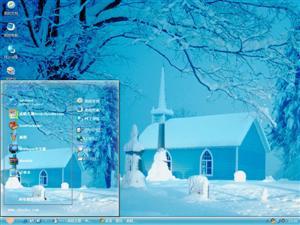 美丽冬季雪景电脑主题