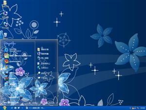 艺术设计花朵电脑主题