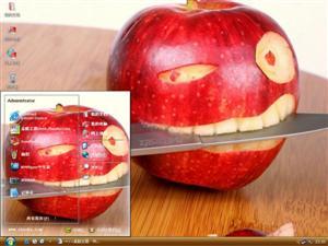 创意鬼脸苹果电脑主题