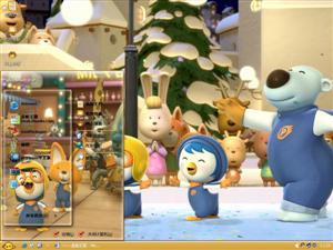 波鲁鲁冰雪大冒险卡通电脑主题