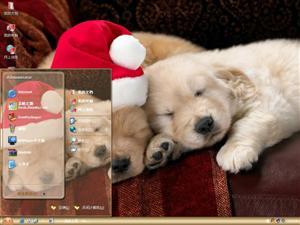 可爱圣诞小狗电脑主题