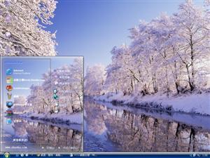 唯美冬季雪景电脑主题