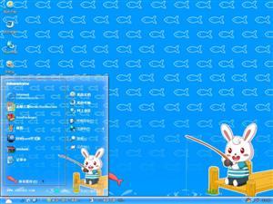 兔小贝钓鱼电脑主题