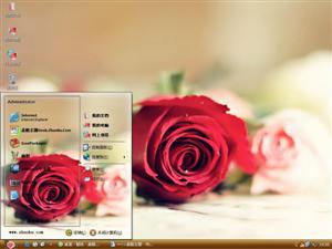 情人节浪漫玫瑰花电脑主题