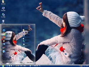 冬季清纯少女电脑主题
