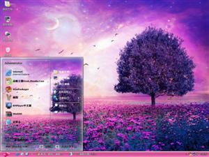 紫色梦幻风景电脑主题
