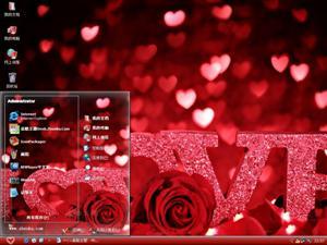 玫瑰爱情电脑主题