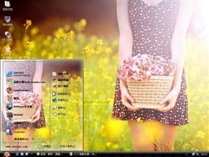 非主流美女花朵电脑主题