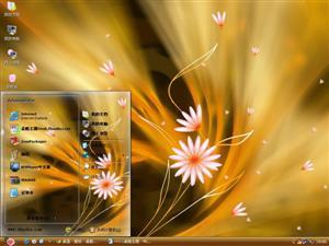 梦幻彩绘花朵电脑主题