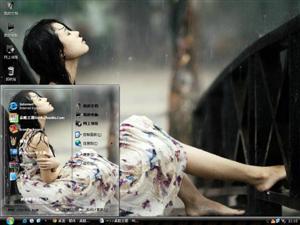 在雨中电脑主题