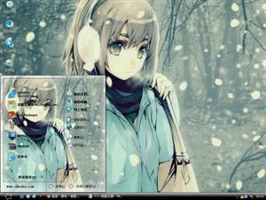 冬雪女孩电脑主题