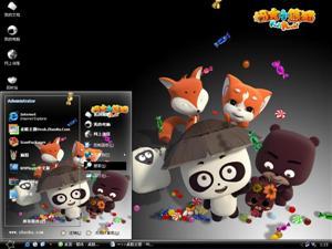 福吉小熊猫电脑主题