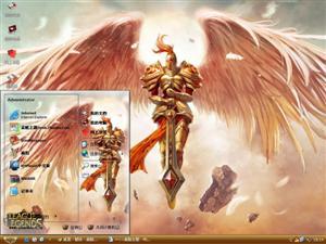 英雄联盟审判天使电脑主题