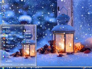 唯美冬天雪景电脑主题
