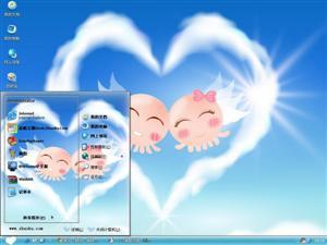 可爱章鱼情侣电脑主题