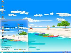 卡通海滩电脑主题