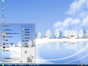 唯美卡通雪景电脑主题