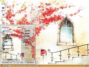 艺术手绘插画电脑主题