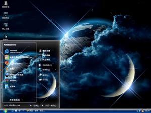 星球空间电脑主题