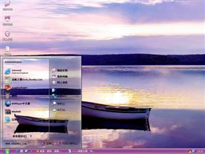 湖泊小船电脑主题