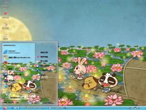 可爱无知熊猫电脑主题