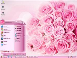 浪漫玫瑰电脑主题