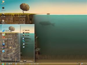 海底下的房子电脑主题