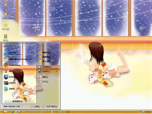 女孩的童年电脑主题