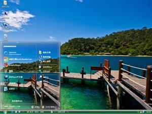 海滩边上电脑主题